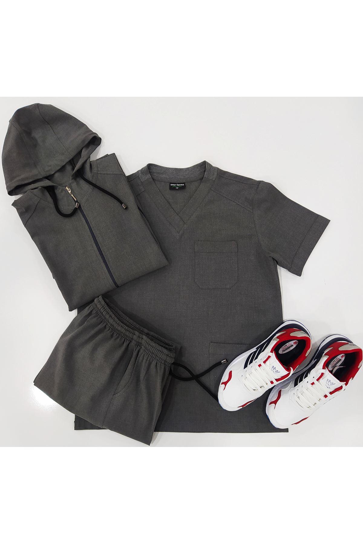 Erkek 4 parça kapşon forma pantolon ve ayakkabı.Santana likralı kumaş.
